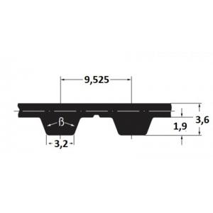 Hammasrihm Alpha linear L100-St