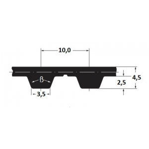 Hammasrihm Alpha linear 20 T10-St