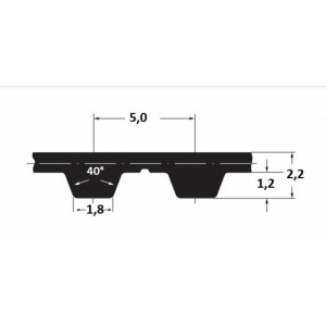 Hammasrihm Alpha T5/305 10mm