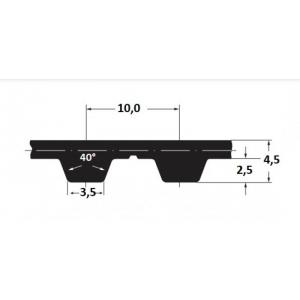 Hammasrihm Alpha T10/530  10mm