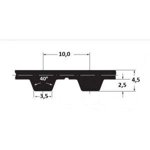 Hammasrihm Alpha T10/1400 25mm