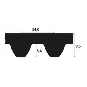 Timing belt STD 3850 S14M