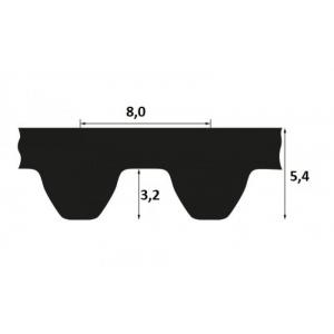 Timing belt STD 712 S8M 15mm