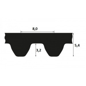 Timing belt STD 720 S8M 30mm