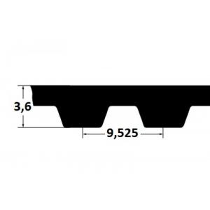 Timing belt ZR 225L100 25,4mm