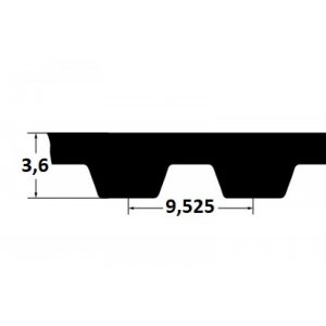 Timing belt ZR 480L100 25,4mm