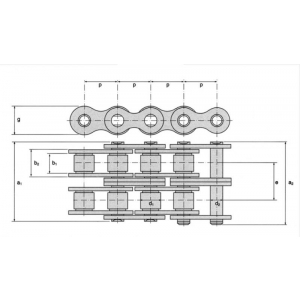 Roller chain 16A-2 (80-2) KB