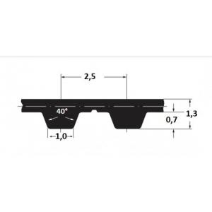 Hammasrihm Alpha T2,5/230 10mm