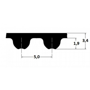 Timing belt Omega 750 5M 9mm