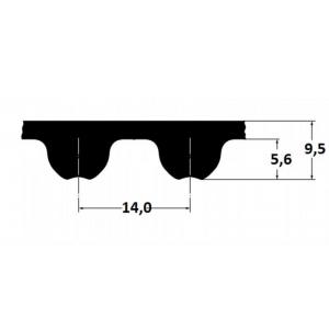 Timing belt Omega HP 3850 14MHP 115mm