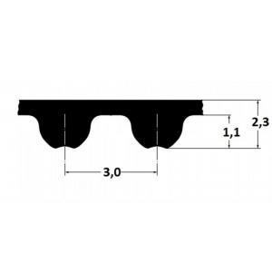 Timing belt Omega 204 3M 15mm