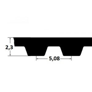 Timing belt ZR 106XL037 9,53mm