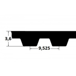 Hammasrihm ZR 255L075 19,05mm