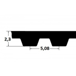 Hammasrihm ZR 200XL037 9,53mm