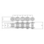 Roller chain 08A-1 (40-1) KB