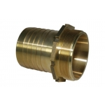 Screw hose coupling 32mm M-G1 1/4-Br  with serrated hose shank