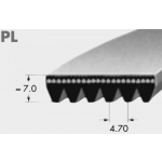 Ribbed belt RB 7PL 1075
