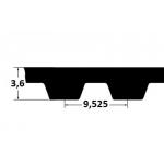 Hammasrihm ZR 367L075 19,05mm