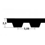 Timing belt ZR 130XL037 9,53mm