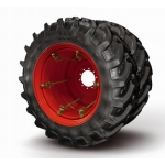 Dual wheel set 480/70R28 (dual 15x28/285 4-clamps AP+ 2pcs, mounted tyres 2pcs)